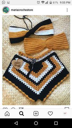 Crochet Shorts, Crochet Baby Shoes, Crochet Clothes, Crochet Bikini, Knit Crochet, Crochet Lingerie, Crochet Bathing Suits, Teen Fashion Outfits, T Shirt Diy