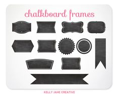 Chalkboard Scrapbooking Clip Art - Clipart - Digital Frame - Journal Tag - Label - Digital Files INSTANT DOWNLOAD - Free Clipart w order (4.97 USD) by KellyJSorenson