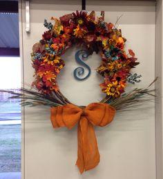Fall wreath turquoise
