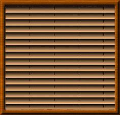 santa peeping in blinds