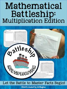 It's Time to Declare War...On Learning Math Facts! This fast-paced and engaging version of Battleship will have your students begging to play again and again! Learning math facts was never so much fun! ($)