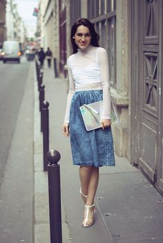 Choies Sandals, River Island Skirt, New Look Handbag