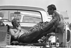 Steve McQueen - this photo is one of 21 photos that were unpublished in his lifetime. They capture his passionate personality.