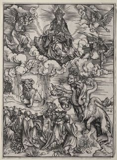 Albrecht Durer - The Beast with Seven Heads and the Beast with Lamb's Horns