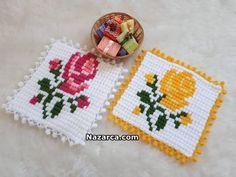 MISIR TEKNİĞİ İLE GÜLLÜ LİF MODELİ YAPILIŞI | Nazarca.com Baby Knitting Patterns, Lace Embroidery, Diy And Crafts, Cooking Recipes, Crocheted Afghans, Cross Stitch, Crochet Carpet, Amigurumi, Needlepoint