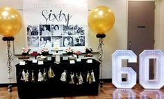 60th birthday party ideas.                                                                                                                                                     More