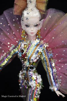 Magia2000 OOAK Dolls Ooak Dolls, Barbie Dolls, Captain Hat, Costumes, Hats, Top, Fashion Design, Fantasy, Dress Up Clothes
