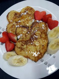 """French toast(valentine breakfast idea)by Pam...! """"best for breakfast not only  this season...yummy :hungry :hungry""""  @allthecooks #recipe"""