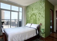 Custom Map Wall Murals by Wallpapered Photo