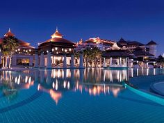 Anantara Dubai The Palm Resort & Spa. Only hotel in the Middle East to have over water bungalows. Awesome.