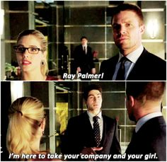Arrow - Ray, Oliver and Felicity #Olicity// SHOOT HIM.