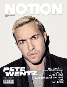 The gorgeous Fall Out Boy Pete Wentz is our 4th cover star of NOTION 70. Make sure you dont miss out by pre ordering your copy using the link in our bio. #NOTION70 #NOTIONMagazine #PeteWentz #FallOutBoy