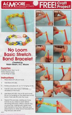 I see all my music students in elementary school with these..... Maybe fun for kids? Rubber Band Bracelets: The Latest Kids Craze