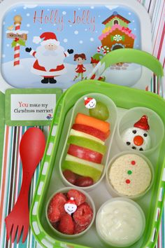 Snowman Yubo Bento School Lunch with @Sarah Tippetts Speed Rivera Love from Say Please
