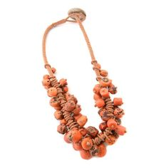 *Central Asian Mediterranean Coral Bead Necklace. : Lot 4373