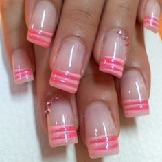 French manicure with finesse