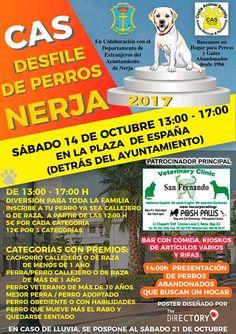 Esta mañana Jorge Bravo, concejal del departamento de Residentes Extranjeros del Ayuntamiento de Nerja, junto a la encargada del área, Jacky Gómez, ha presentado el Desfile de Perros que tendrá lugar el próximo 14 de octubre en la Plaza España.   #desfile #nerja #noticias #perros
