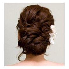 My Hairstyle =) Wedding Hair And Makeup, Bridal Hair, Hair Makeup, Wedding Updo, Fancy Hairstyles, Bride Hairstyles, Style Hairstyle, Gorgeous Hairstyles, Hairdos