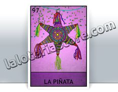 High quality digital art print. STYLES ---------------------  VINTAGE. This looks the closest to an original loteria card. It keeps the traditional colors and has a vintage feel.  MINT. It keeps the original colors, but no old texture is added to the card.  POP. Its a fresher spin-off. They use alternative more vibrant colors.    PAPER PRINTS DETAILS --------------------- - A4 and smaller are printed on high quality heavy cover stock paper. - A3 and 12x18 are printed on high quality coated…