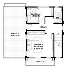 5 Elegantly Simple Two-storey House with Floor Plans - Bahay OFW Two Storey House Plans, My House Plans, Bedroom House Plans, Small House Plans, 3 Storey House Design, Two Story House Design, Small House Design, The Plan, How To Plan