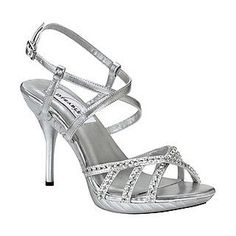 Nina REILLY SILVER GLITTER 3 inch heels at Shoe Carnival | Fashion ...