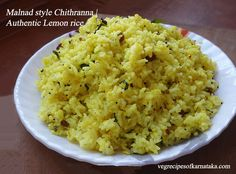 chitranna or lemon rice without onion