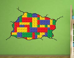 lego decorating bedroom ideas | Lego style wall decal - Kids Bedroo m Lego Master Vinyl Wall Decal ...