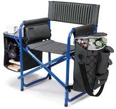 Picnic Time 'Fusion' Lawn Chair - Blue
