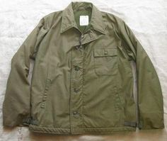 U.S. NAVY JACKET,COLD WEATHER PERMEABLE / A-2 DECK JACKET USS WISCONSIN BB-64