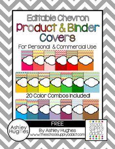 {free} Editable Chevron Product & Binder Covers!
