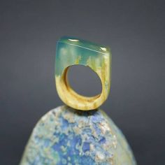 ForestDreamer / Drevený prsteň: Medzi koreňmi Wooden Rings, Korn, Gemstone Rings, Gemstones, Jewelry, Wood Rings, Jewlery, Gems, Jewerly