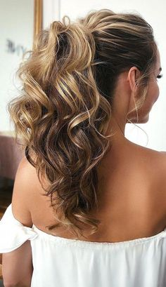 53 Best Ponytail Hairstyles  Low and High Ponytails  To Inspire , hairstyles #weddinghair #ponytails #wedding #hairstyles #ponytail #weddinghairstyles Prom hairstyle, easy ponytails, puff ponytails #SimpleElegantHairstyles Down Curly Hairstyles, Formal Hairstyles For Long Hair, High Ponytail Hairstyles, High Ponytails, Elegant Hairstyles, Scarf Hairstyles, Bride Hairstyles, Long Hair Styles, Date Night Hairstyles