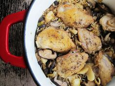 One-Pot Sesame Chicken, Shiitake, and Brown Rice ... use MSPI-friendly stock