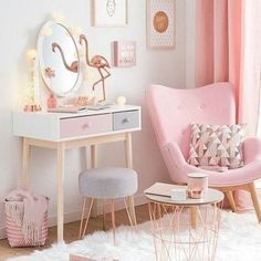 Deco Rose Gold Chambre Maison Du Monde - New Ideas Gold Bedroom Decor, Gold Wall Decor, Pink Home Decor, Bedroom Ideas, Copper Bedroom, Bedroom Pictures, Pink Bedroom For Girls, Teenage Girl Bedrooms, Small Living Room Chairs