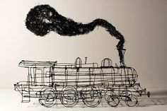 Martin Senn - wire sculpture - train