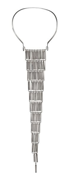 Ibe Dahlqust & Olov Barve silver necklace, 'Cascade', Debe Form, Malmö 1965