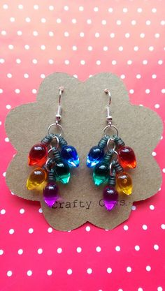 Hey, I found this really awesome Etsy listing at https://www.etsy.com/listing/202617736/christmas-tree-lights-dangle-earrings