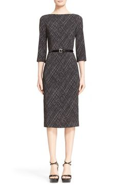 Michael Kors Belted Plaid Sheath Dress available at #Nordstrom