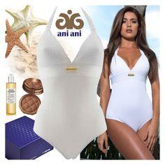 """Ani Ani"" by gaby-mil ❤ liked on Polyvore featuring Laura Geller, Maison Margiela, swimwear, beachwear, resortwear, luxury and aniani"