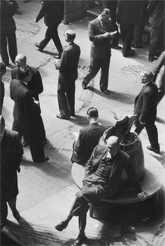 Henri Cartier-Bresson, Stock Exchange, London, 1955