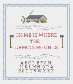 Stranger Things cross stitch demogorgon