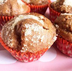 Muffin farine d'avoine et compote de pomme ( muffin assez light, mais a essayer avec une autre farine la prochaine fois)