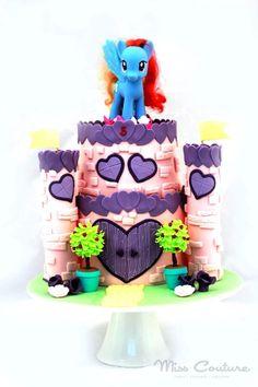 My Little Pony Princess Castle Cake » Princesses & Tiaras ~ Princess Party Ideas, Princess Themed Events, Princess Party Inspiration & More