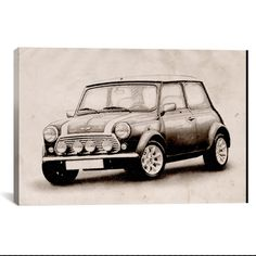 Mini Cooper Sketch by Michael Tompsett What a way to decorate! your favorite pieces of history on a nice canvas. A perfect way to match up your mancave, bedroom, garage, gameroom etc. Great Art Deserv