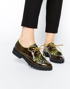 Image 1 ofMiista Miley Lace Up Flat Shoes