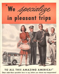 1941 Greyhound Bus travel print ad by catchingcanaries on Etsy, $7.00