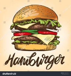 Find Big Burger Hamburger Hand Drawn Vector stock images in HD and millions of other royalty-free stock photos, illustrations and vectors in the Shutterstock collection. Burger Drawing, King Lebron, Big Burgers, Coffee Logo, Coffee Shop, Cool Poses, Lettering Tutorial, Chalkboard Art, Illustration Sketches