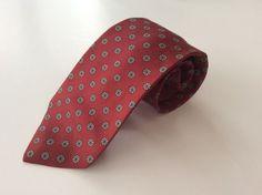 Briar Neck Tie Red Blue Beige Floral 100% Silk #Briar #NeckTie