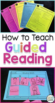 How to Teach Guided Reading: Prereading to Word Work Extensions - The Candy Class