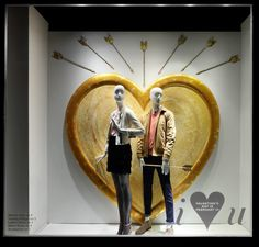 "MACY'S, New York, ""Listen Peter... Not everything can be solved with a bow and arrow"", photo by Roya Sullivan, pinned by Ton van der Veer"
